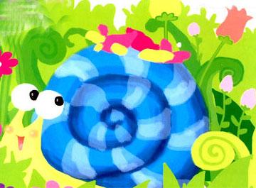 小蜗牛盖花房