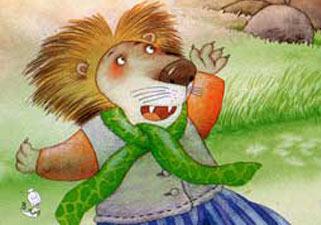 快乐的狮子!您好