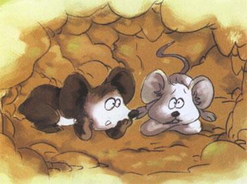 香香的蝴蝶和丑丑的老鼠