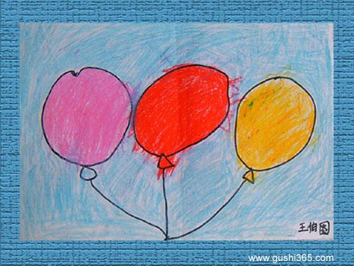 王伯图小朋友绘画作品(三); 幼儿园小班儿童绘画作品集; 儿园小班创