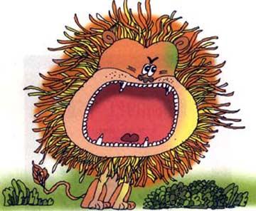 一千颗牙齿的大头狮子