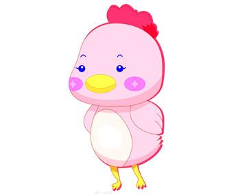 小鸡雏遇见小鹅