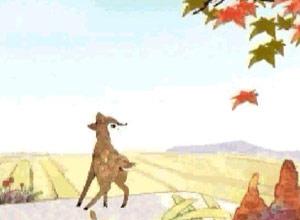 小鹿上高速公路